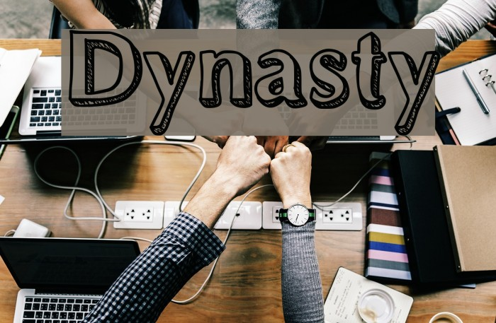 Dynasty Шрифта examples