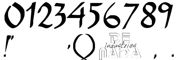E-BrantScript Font OTHER CHARS