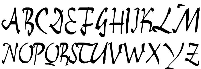 E-BrantScript Font Litere mari
