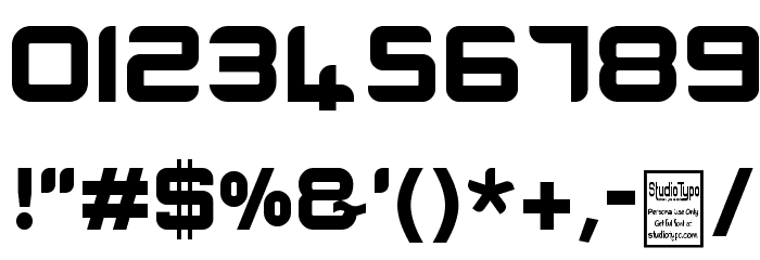 E-SQUARE Font OTHER CHARS