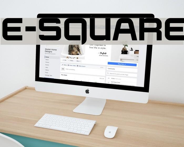 E-SQUARE फ़ॉन्ट examples