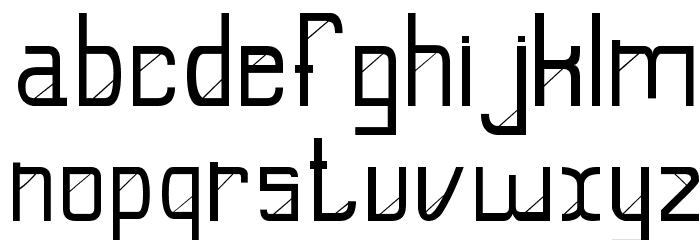E-Slash फ़ॉन्ट लोअरकेस