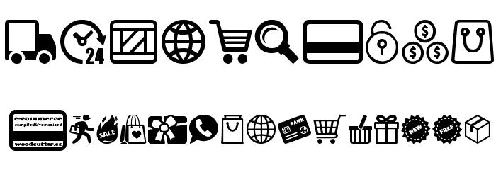 E-commerce Font Alte caractere