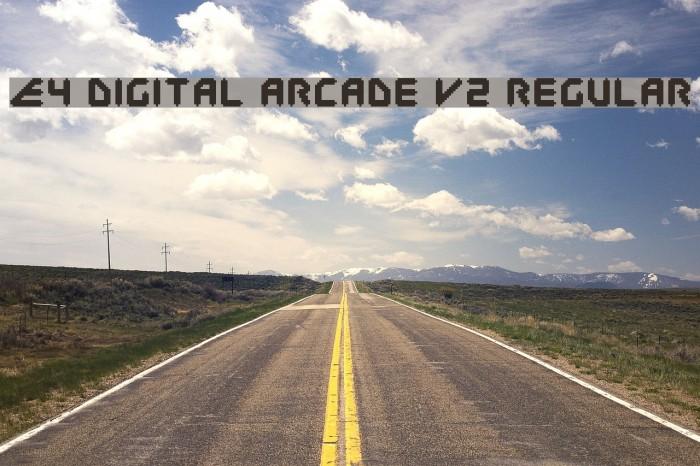 E4 Digital Arcade V2 Regular Fuentes examples