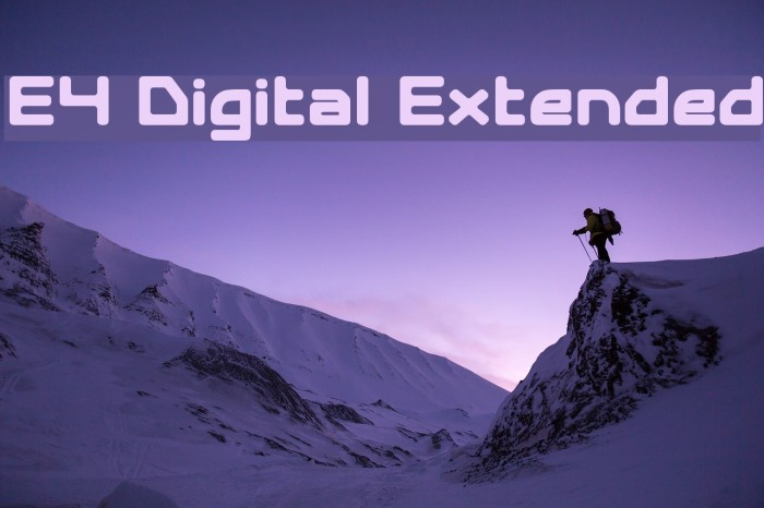 E4 Digital Extended Font examples
