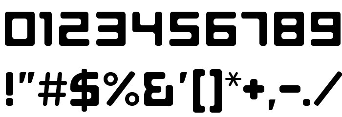 E4 Digital V2 Light Regular Font OTHER CHARS