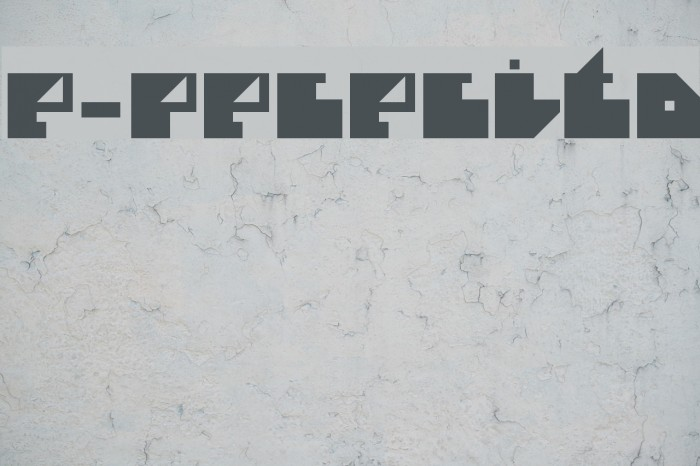 e-Pececito फ़ॉन्ट examples