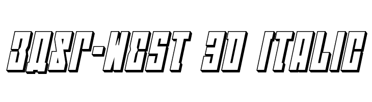 EAST-west 3D Italic  Descarca Fonturi Gratis