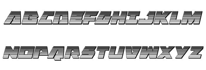 Eagle Strike Chrome Italic फ़ॉन्ट अपरकेस