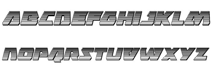 Eagle Strike Chrome Italic फ़ॉन्ट लोअरकेस