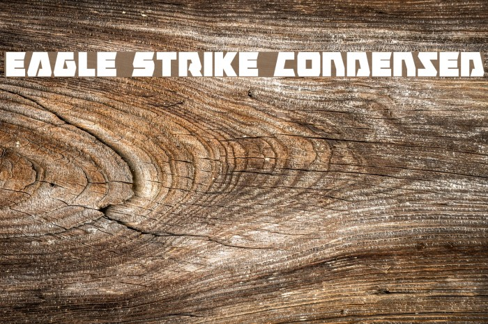 Eagle Strike Condensed फ़ॉन्ट examples