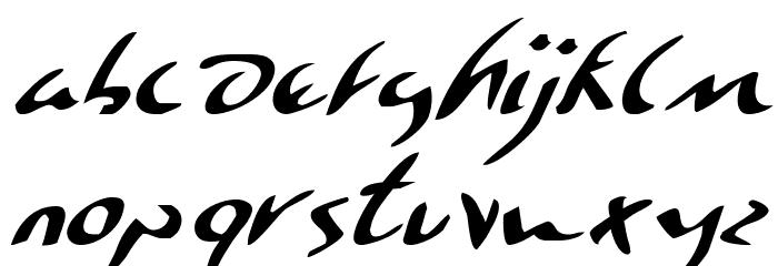 Eagleclaw Italic फ़ॉन्ट अपरकेस