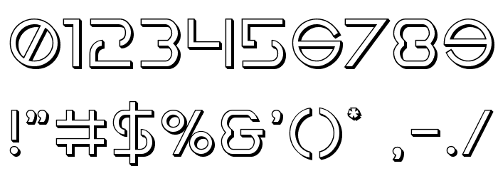Earth Orbiter 3D Font OTHER CHARS