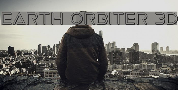 Earth Orbiter 3D Font examples