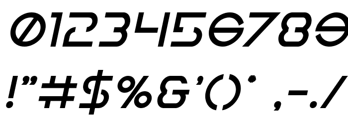 Earth Orbiter Bold Italic Font OTHER CHARS