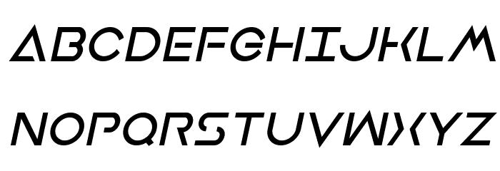 Earth Orbiter Bold Italic Caratteri MAIUSCOLE