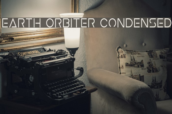 Earth Orbiter Condensed Font examples