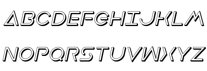 Earth Orbiter Deep 3D Italic Font UPPERCASE