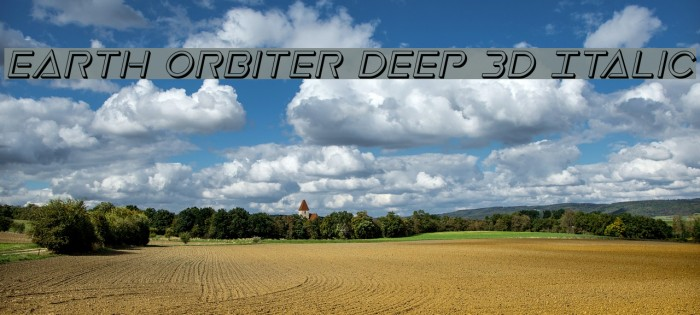 Earth Orbiter Deep 3D Italic Caratteri examples