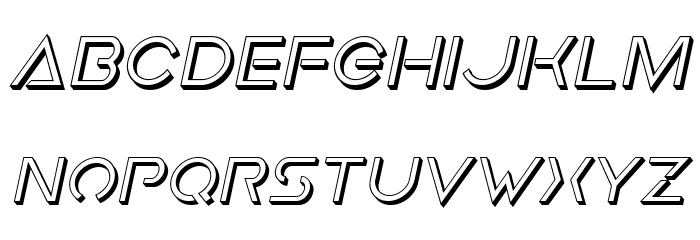 Earth Orbiter Deep 3D Italic Font LOWERCASE