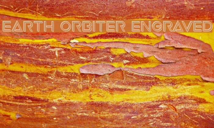 Earth Orbiter Engraved फ़ॉन्ट examples