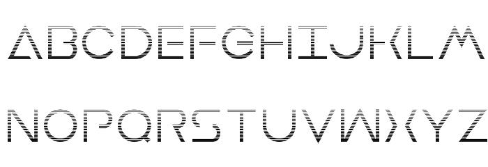 Earth Orbiter Gradient Font UPPERCASE