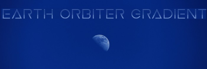 Earth Orbiter Gradient Caratteri examples