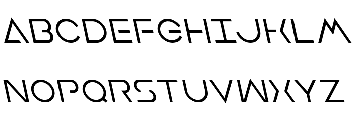 Earth Orbiter Leftalic Font UPPERCASE