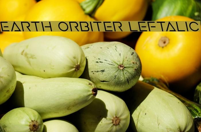 Earth Orbiter Leftalic Caratteri examples