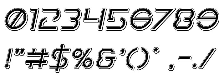 Earth Orbiter Punch Italic Schriftart Anderer Schreiben