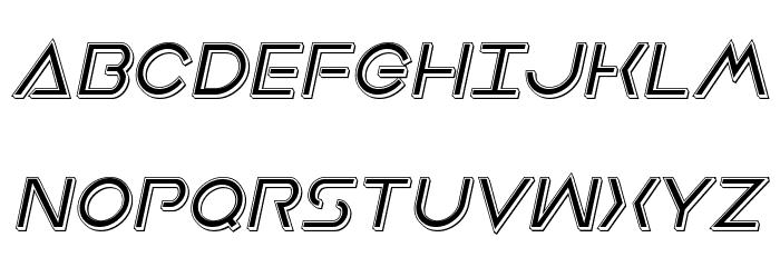 Earth Orbiter Punch Italic Schriftart Groß
