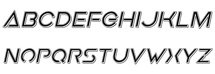Earth Orbiter Punch Italic Schriftart Kleinbuchstaben
