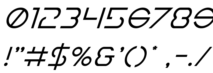 Earth Orbiter Super-Italic Font OTHER CHARS