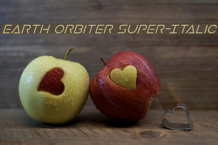 Earth Orbiter Super-Italic Font examples