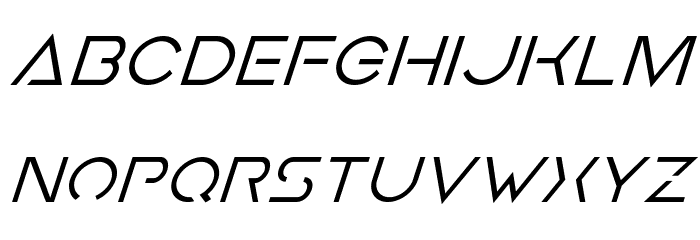 Earth Orbiter Super-Italic Font LOWERCASE