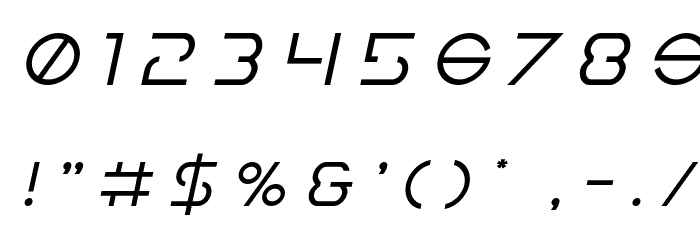 Earth Orbiter Title Italic Font OTHER CHARS
