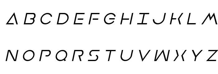 Earth Orbiter Title Italic Font UPPERCASE
