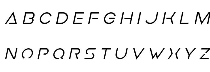 Earth Orbiter Title Italic Font LOWERCASE
