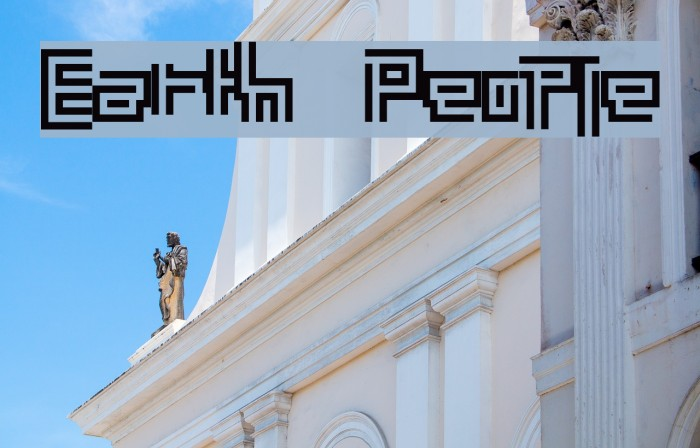 Earth People Font examples