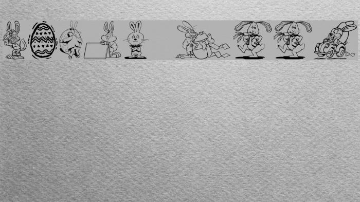 Easter Hoppy Fonte examples