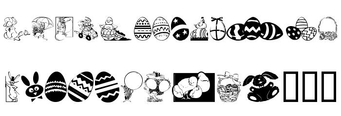 Easter art Fonte MINÚSCULAS