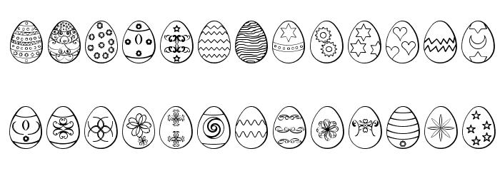 Easter eggs ST Fonte MINÚSCULAS