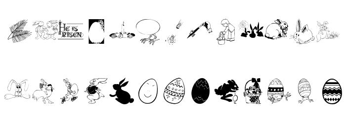 Eastereggs Font Litere mari
