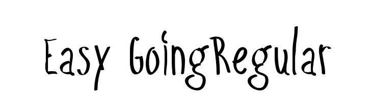Easy GoingRegular  フリーフォントのダウンロード