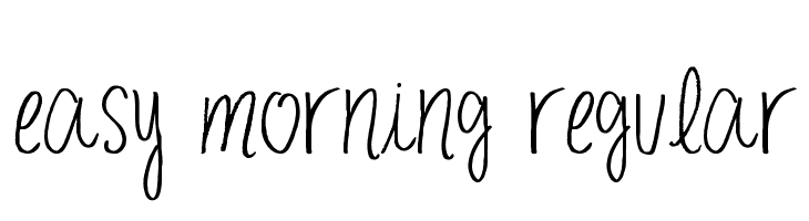 easy morning Regular  Fuentes Gratis Descargar