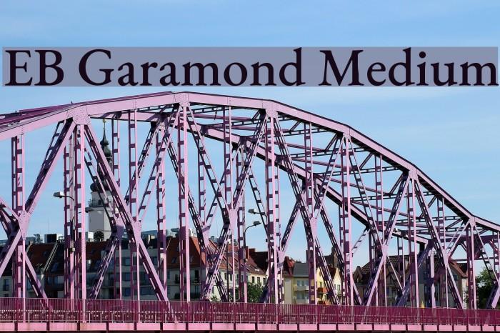 EB Garamond Medium Font examples
