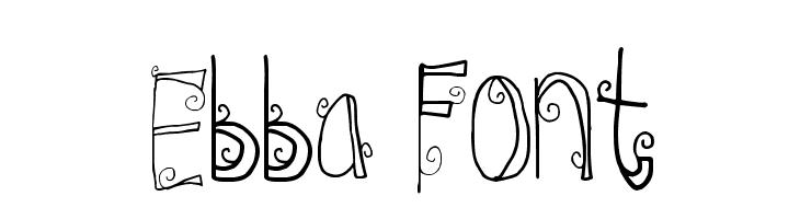 Ebba Font  नि: शुल्क फ़ॉन्ट्स डाउनलोड