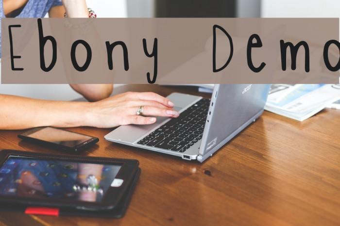 Ebony Demo फ़ॉन्ट examples