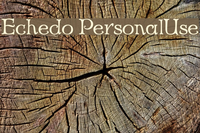 Echedo PersonalUse Font examples