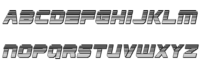 Edge Racer Chrome Italic Fonte MAIÚSCULAS